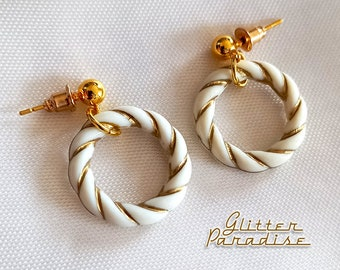 Marilyn Baby Twisted Hoops - Earrings - Hoops & Domes - Barbie Hoops - Retro Hoops Earrings - 50's Retro Hoops Earrings - Glitter Paradise®