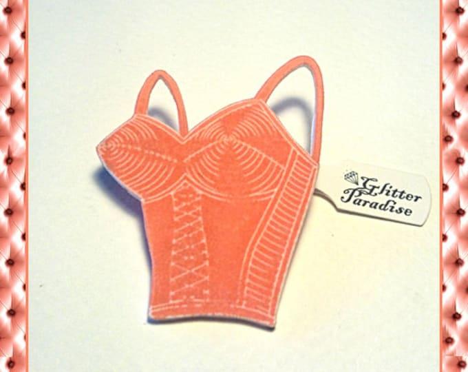 Bettie's Bullet Bra Pink - Brooch - Retro Lingerie - Vintage Lingerie - Vintage Sleaze - 1950's Lingerie - Bettie Page - Glitter Paradise®