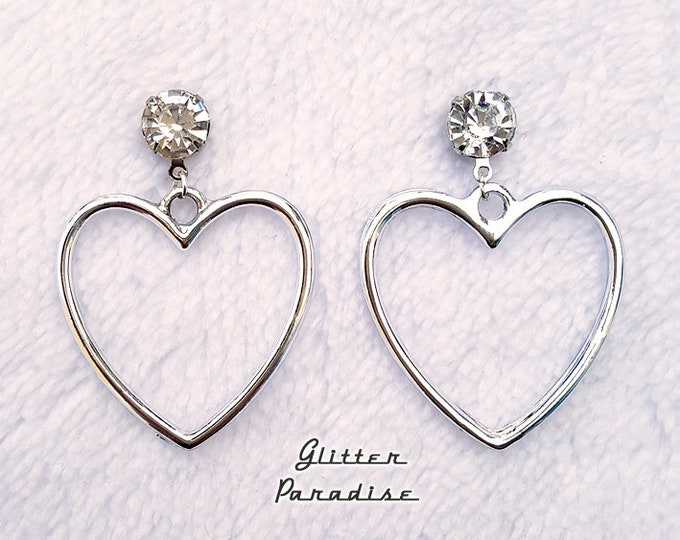 Retro Marilyn Heart Deluxe - Earrings - Heart Jewelry - Be My Valentine - I Love U - Romantic - Valentine's Jewelry Gift - Glitter Paradise®