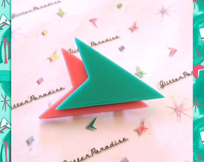 Double Atomic Boomerang - Brooch - Mid-Century Modern - 50's - 60s - Novelty Brooch - Retro Jewelry - Vintage Inspired - Glitter Paradise®