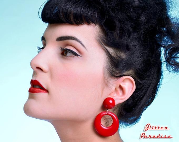 Hoops & Dômes Plain - Earrings - Hoops Earrings - Retro Hoops - Pinup - 50s - Fakelite - Marilyn Hoops - Pin-Up - Glitter Paradise®