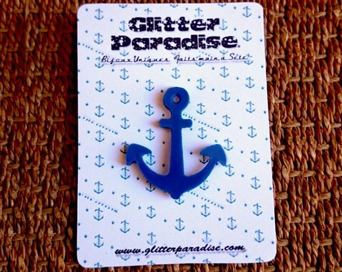 Anchor - Pin - Hello Sailor - US Navy - Boat - Sailing - Marine - Captain - Pinup Sailor - Nautical - Beach - Maritime - Glitter Paradise®
