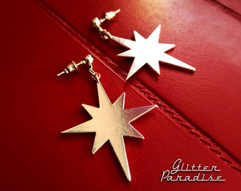 Northern Star - Earrings - Mid-Century Modern - Motel Star - Starlite - Starburst Earrings - North Star - Retro Earrings - Glitter Paradise®