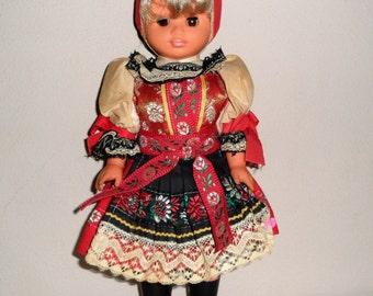 Beautiful Vintage European Ethnic Doll