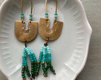 Winter ombré earrings