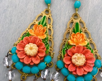 Frida's Garden earrings