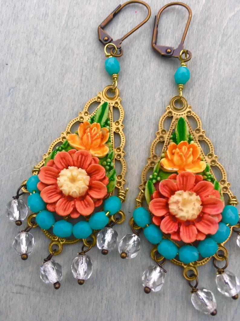 Frida's Garden earrings image 0