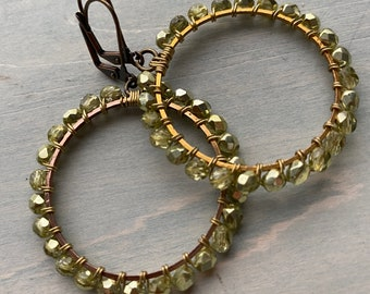 Dragonfly green Hoops