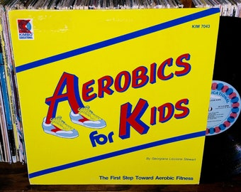 33598dce6684 Aerobics For Kids Vintage Vinyl Record