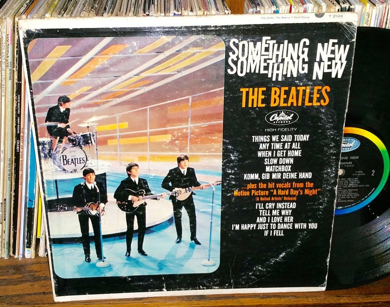 The Beatles Something New Vintage Vinyl Record