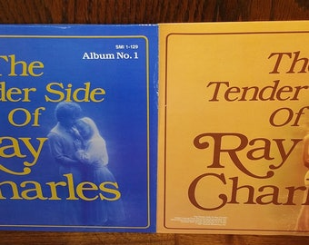 The Tender Side of Ray Charles Album 1 & 2 Vintage Vinyl Records