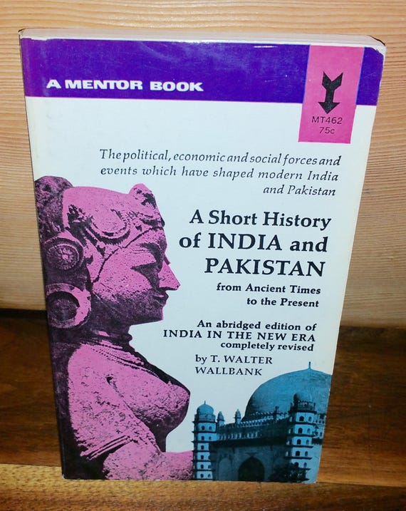 A Short History Of India And Pakistan Vintage Paperback Book