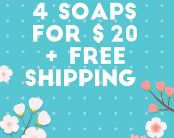 Choose reg 4 soaps and get free Shipping!!!  Use this Ad to get your free shipping