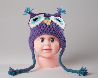 8417ac919bb Baby owl hat
