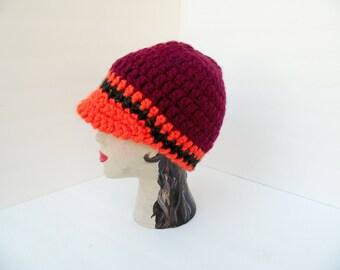 ba8d8b6232c Brimmed beanie hat