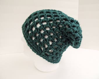 Slouchy Winter Hat Rasta Tam Slouchy Beanie Soft Crochet Hat Slouchy Hat Waffle Cone Slouchy Hat Smurf hat Christmas gift