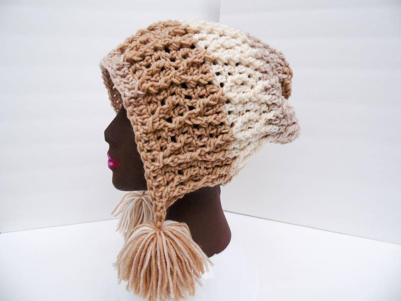 cbaa50da0ce Slouchy Beanie Peanut Butter Swirl Vines Hat Sweet Rolls
