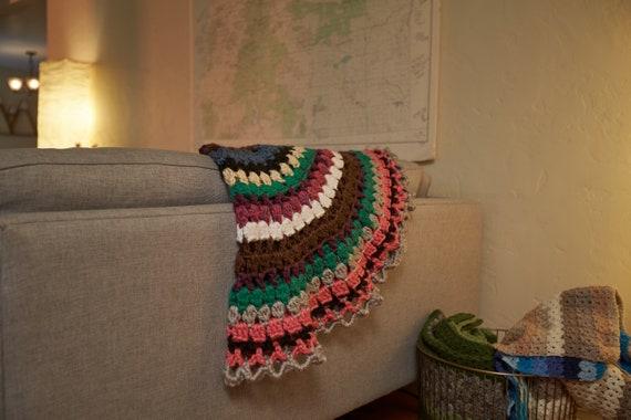 Runde Decke Decke Decke Decke Strand Decke Häkeln Afghan Etsy