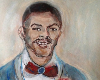 "Portrait, original drawing, original painting, black man, man, men, art, illustration, bowtie, ""If You Are Still With Us"""