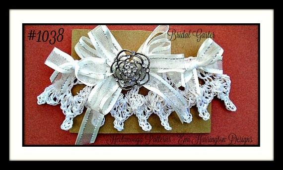 Bridal Garter Crochet Pattern Diy Make Any Size Easy Etsy