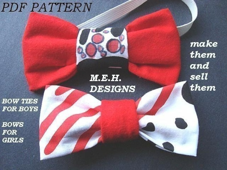 BOW TIES tutorial for BOYS  num 20 or bows  for Girls. So image 0
