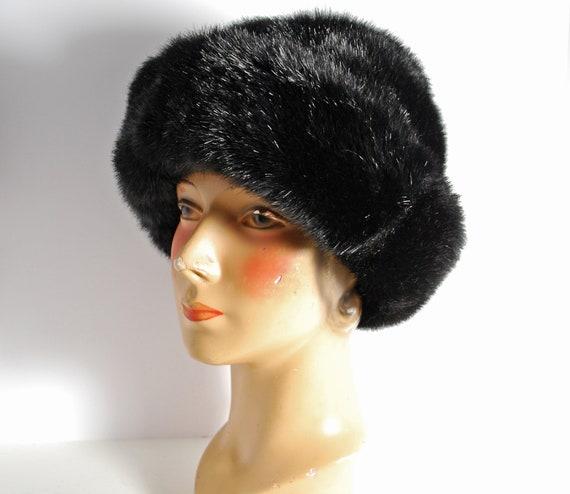 Vintage Faux Fur Women s Winter Black Mink Hat  1badf112244c