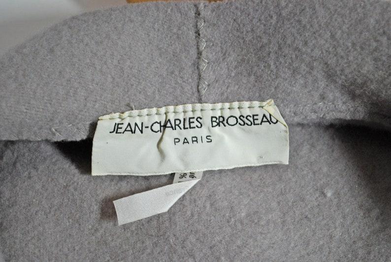 Vintage Designer Jean Charles Brosseau Pearl Gray Wool Womens Cloche ala Downtown Abbey