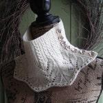 Knitting Pattern cowl scarf neckwarmer with buttons - DIY gift - Sherbrooke Cowl - knitting pattern using sportweight yarn