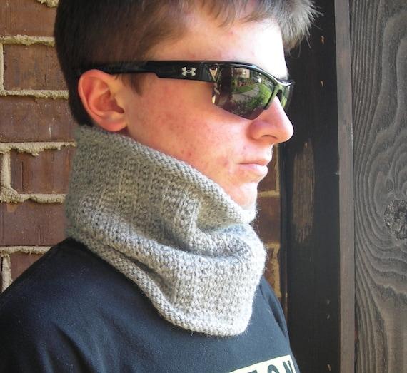 Cowl Neckwarmer Men Women Pdf Knitting Pattern Wicked Etsy