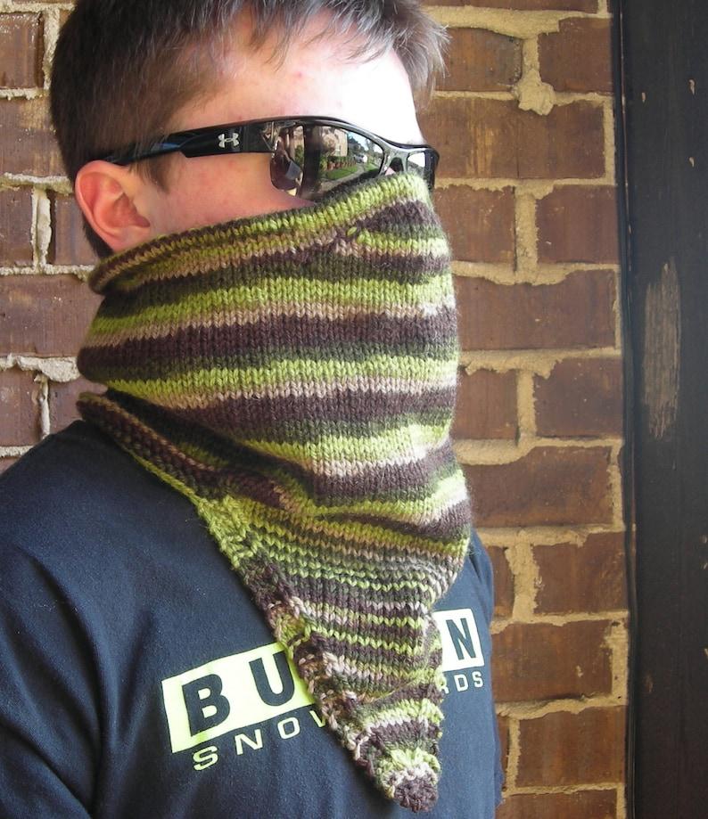 Knitting Pattern PDF  Warmers for Warriors  Kerchief Warmer image 0