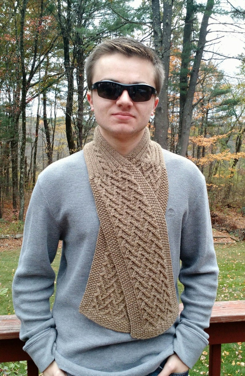 Knitting Pattern Easy Scarf Cowl Neckwarmer men women unisex image 0