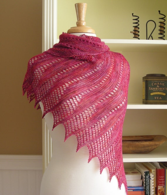 Lace Shawl Easy Knitting Pattern Pdf Asymmetrical Shawl Wrap Etsy