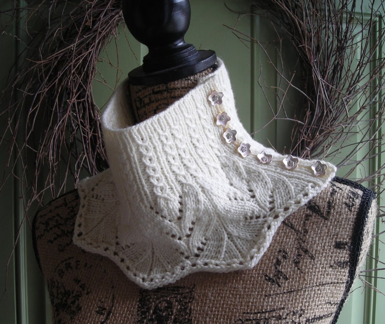 Knitting Pattern cowl scarf neckwarmer with buttons DIY ...