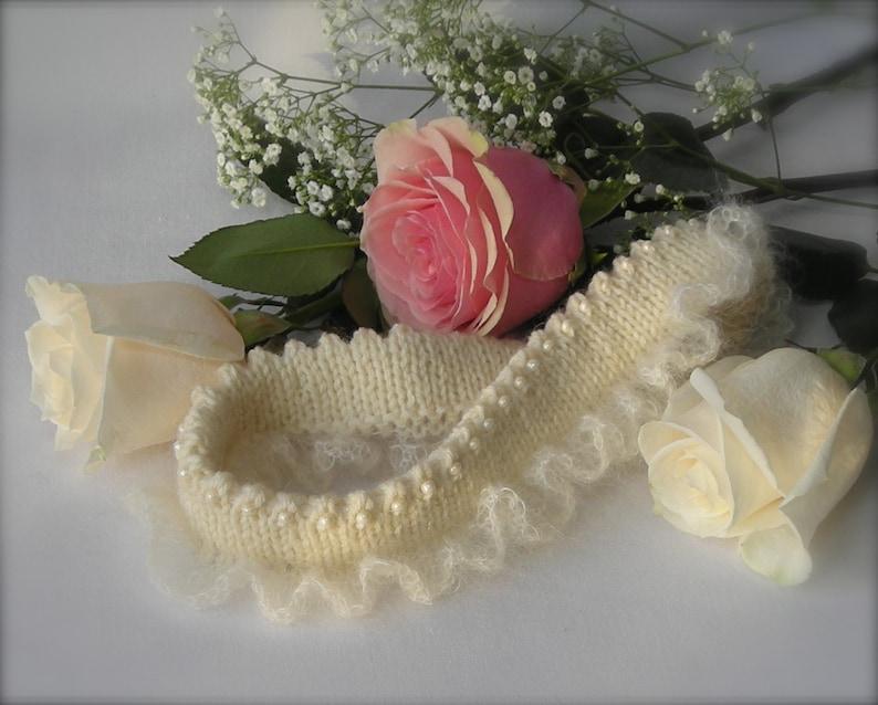 Wedding Garters  Knitting Pattern PDF  bridal garter gift image 0