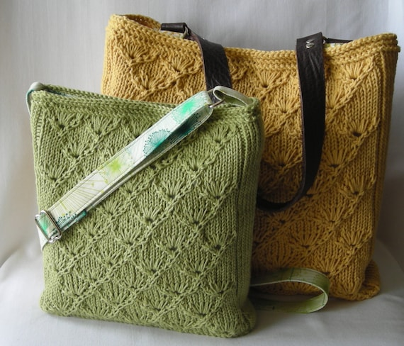 Knitting Pattern Hipster Bag Tote Handbag Purse Espalier Bags Etsy