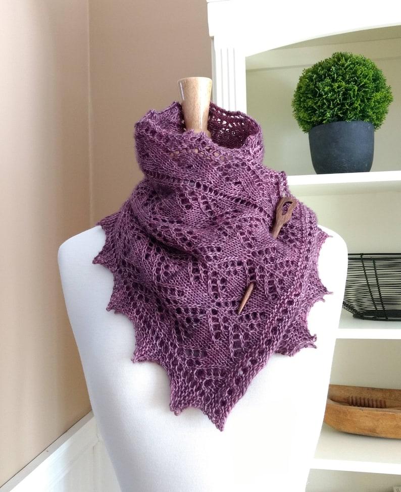 Lace Scarf Knitting Pattern Pdf Smoky Mountain Morning Mist Etsy
