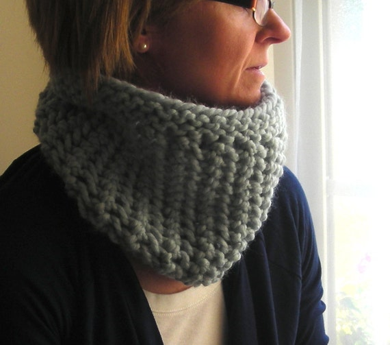 Cowl Knitting Pattern Winter Lace Cowl Quick And Easy Knit Etsy