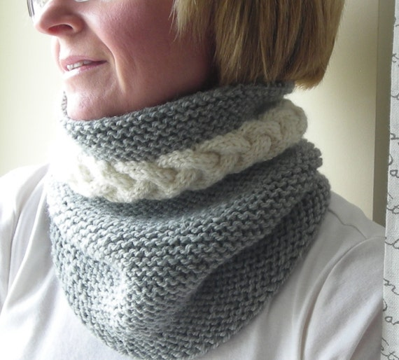 Knitting Pattern Pdf Cowl Neckwarmer Men Women Cable Etsy