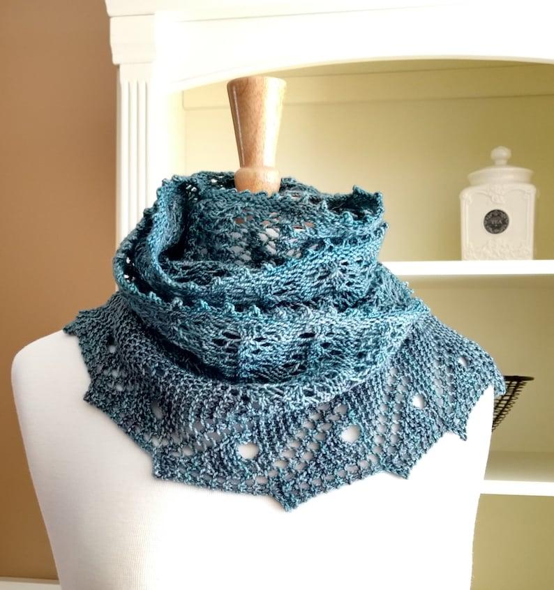 Lace Scarf Shawl Easy Knitting Pattern Front Porch Fern Leaf Etsy