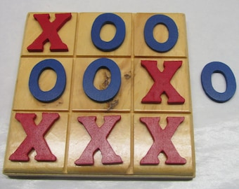Tic Tac Toe, Mind Game, Classic Game, Wooden Board Game, Travel Game, Party Favor, Handmade, Kids Game, Tic Tac Toe, Educational Game, Gift