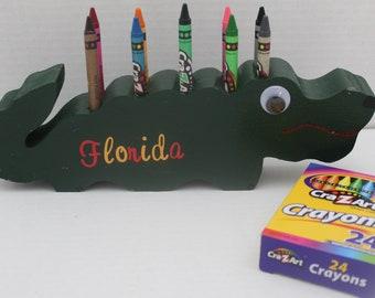 Alligator Crayon Holder, Florida Alligator, Crayon Holder, Party Favors, Florida, Florida Gators, Wedding Decorations, Crayon Organizer, Toy