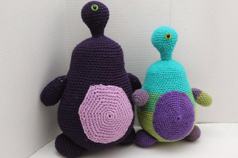 Purple One Eyed Monster Crochet Monster Purple Monster image 0