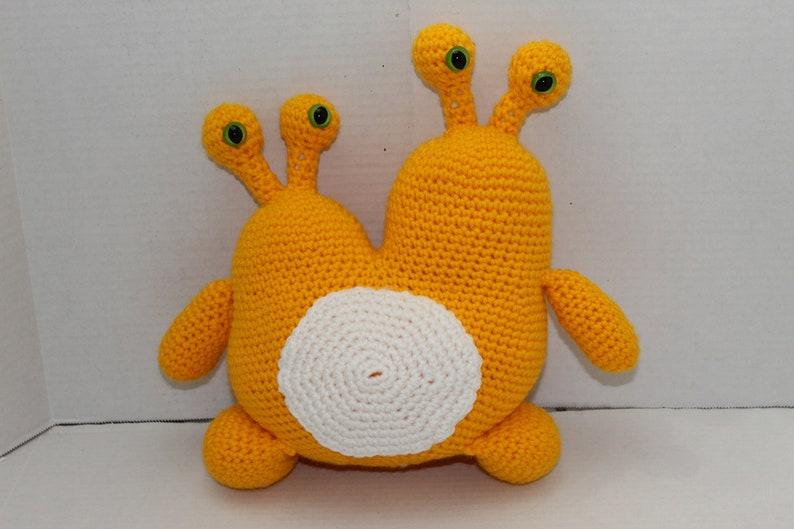 Crochet Monster Yellow 2 Headed Monster Yellow Space image 0