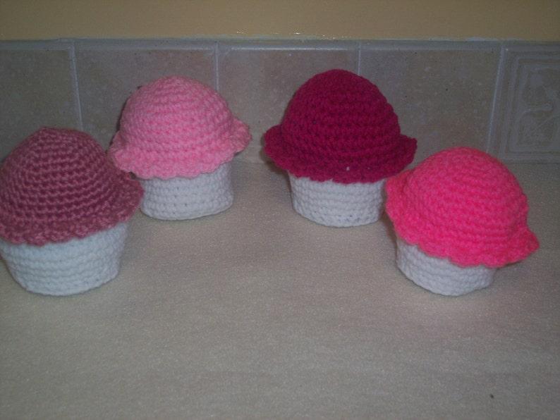 Amigurumi Crochet White Cupcake Play FoodPretend PlayCrochet image 0