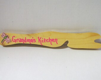 Wooden Oven Pull~Gift~Birthday~Housewarming Gift~Kitchen~Wooden Kitchen Oven Pull~Handmade~Gift under 6~Gift for Mom, Dad, Grandparent, Chef