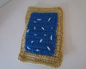 Crochet Poptart~Poptart~Breakfast Food~Pretend Play~Breakfast Play Food Toy~Amigurumi Crochet Play Food Pop tart with Blueberry Frosting