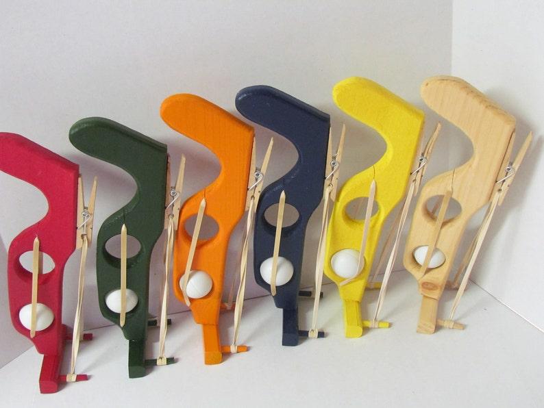 Wooden Ping Pong Gun Ping Pong Gun Shooter Toy Gun Ping image 0