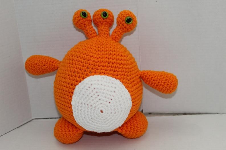 3 Eyed Monster Crochet Toy Monster Doll Monster Soft Plush image 0
