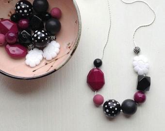 jack horner - necklace - remixed vintage lucite