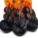 Samhain - Indie Rock Worsted Yarn  - Handpainted Superwash Merino - 218 yards